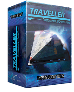 Traveller Customizable Card Game:  Ship Deck Type S Scout